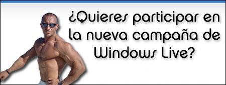 Fernando Vicente promociona Windows Live Search