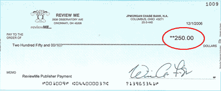 Cheque ReviewMe