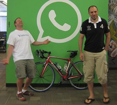 Brian Acton y Jan Koum , fundadores de Whatsapp
